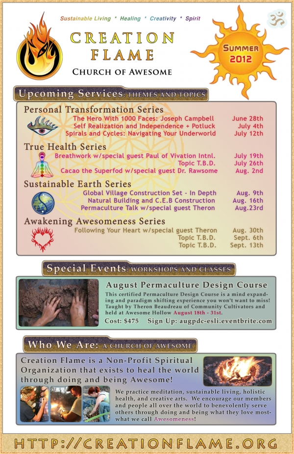 Summer 2012: Thursday Services and Themed Talks